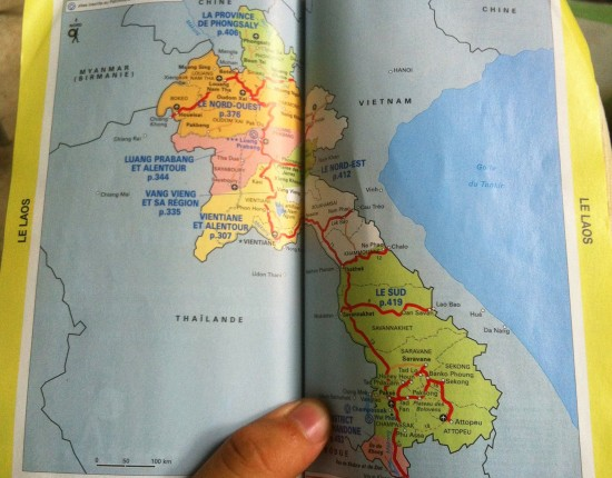le routard carte du laos